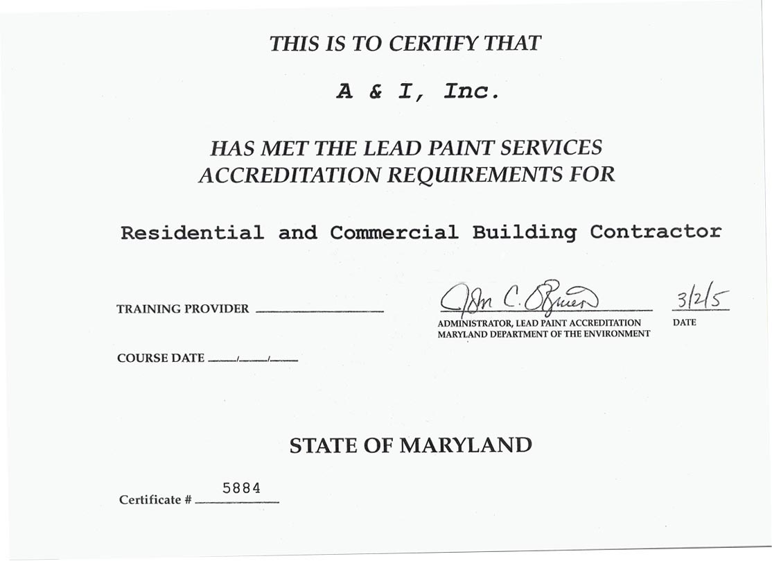 MD Lead License